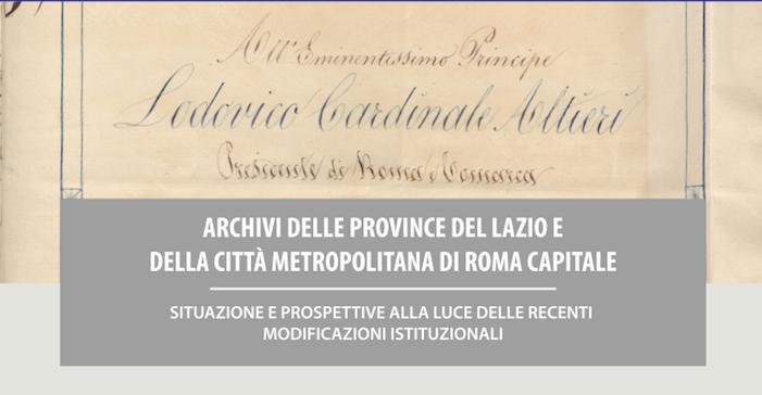 Convegno sugli Archivi delle Province del Lazio – 3 Dicembre 2015