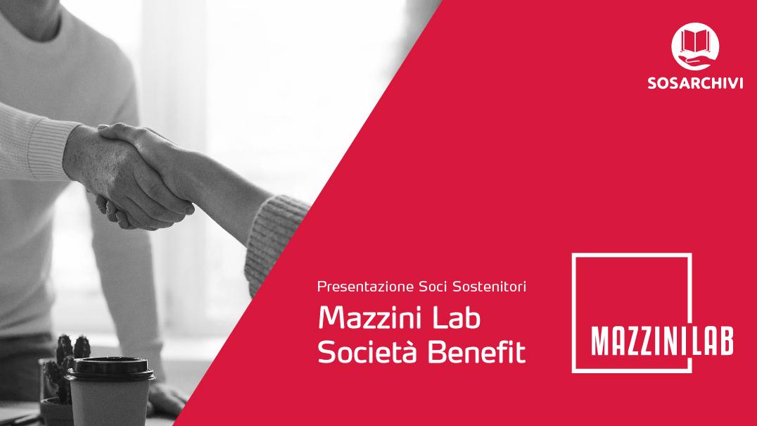 Mazzini Lab nuovo Socio Sostenitore di SOS Archivi